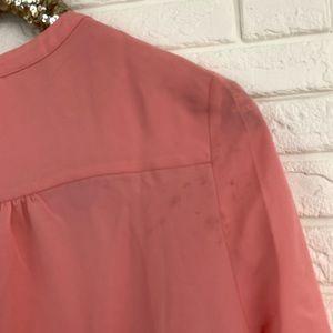 everleigh Tops - Everleigh roll tab sleeve tunic blouse peach pink